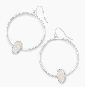 Kendra Scott Elora Silver Hoop Earrings NWT